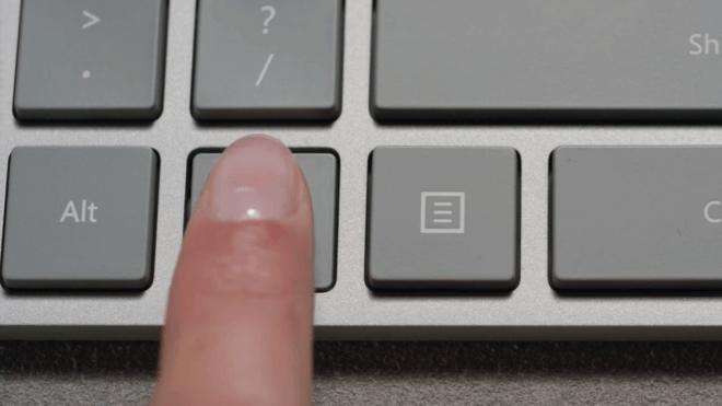 Microsoft, Tastatur, Keyboard, Fingerabdruckleser, Microsoft Modern Keyboard, Microsoft Modern Keyboard with Fingerprint ID
