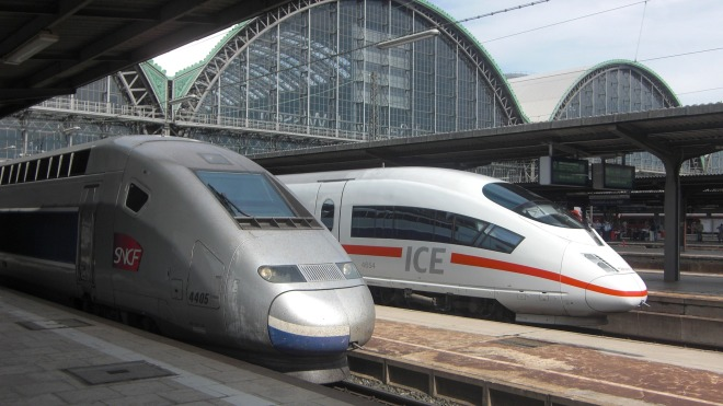 Deutsche Bahn, Ice, Eisenbahn, Bahnhof, TGV, SNCF