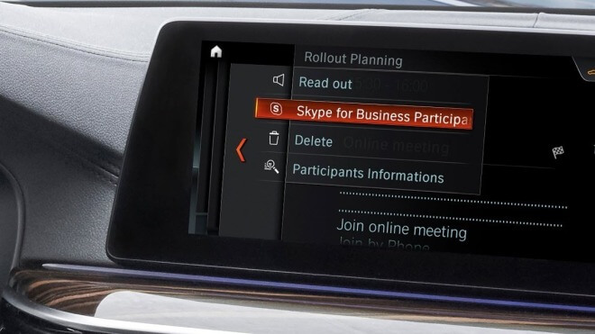 Auto, BMW, Skype for Business, Connected Car