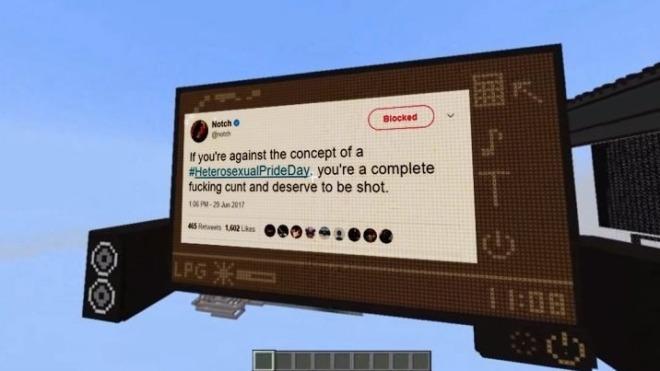 Minecraft, notch, markus persson, Tweet