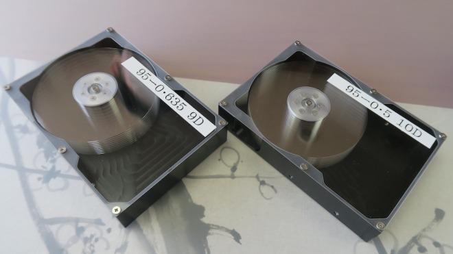 Festplatte, Festplatten, Glas, Hoya