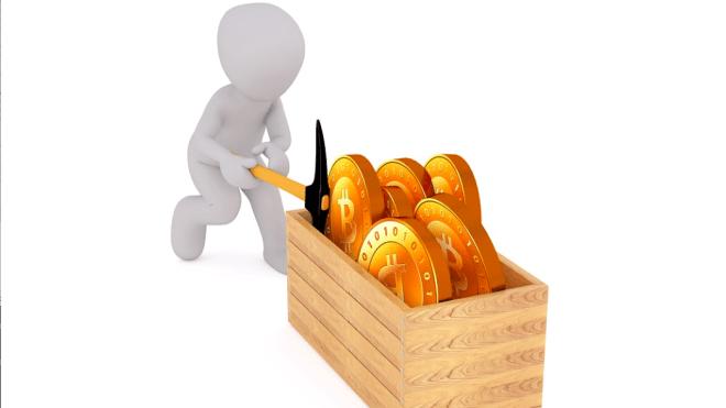 Bitcoin, Währung, Mining