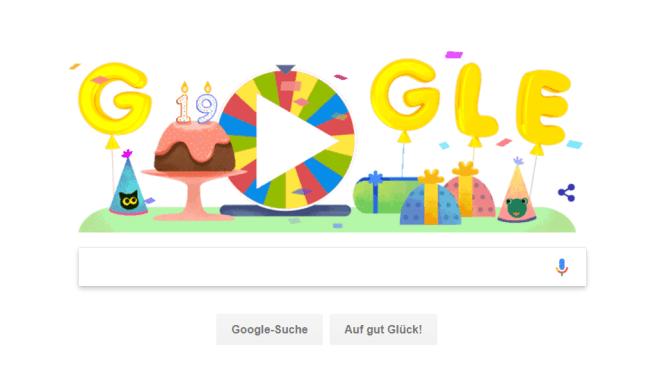 Google, Suchmaschine, Geburtstag, Doodle, Google Doodle, Google Geburtstag