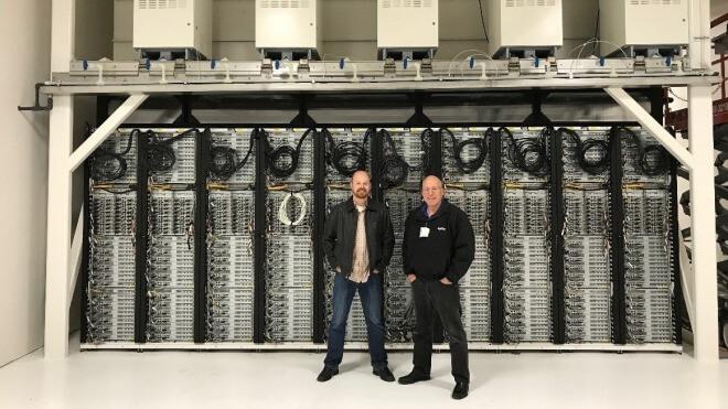 Server, Datenzentrum, Erdgas
