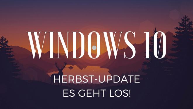 Windows 10, Windows 10 Fall Creators Update, Windows 10 Herbst Update