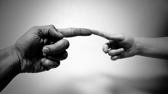 Künstliche Intelligenz, Menschen, Finger, Schöpfung, Hände