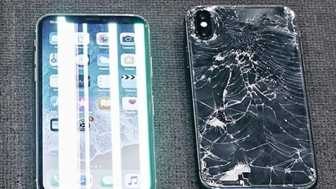 Apple, Iphone, iPhone X, Apple iPhone X, Schaden, Displayschaden