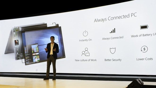 Microsoft, Qualcomm, Terry Myerson, Always Connected PC