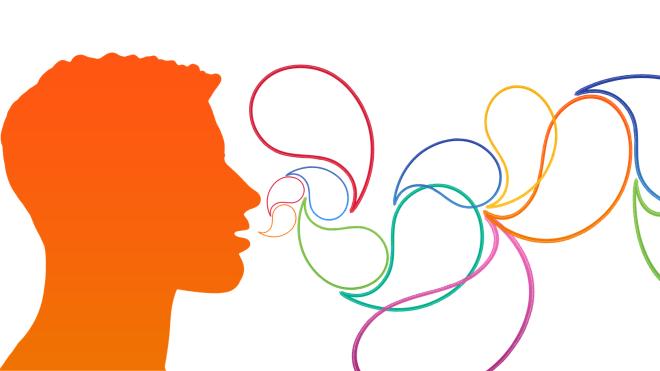 Stimme, Sprachausgabe, Sprechblasen