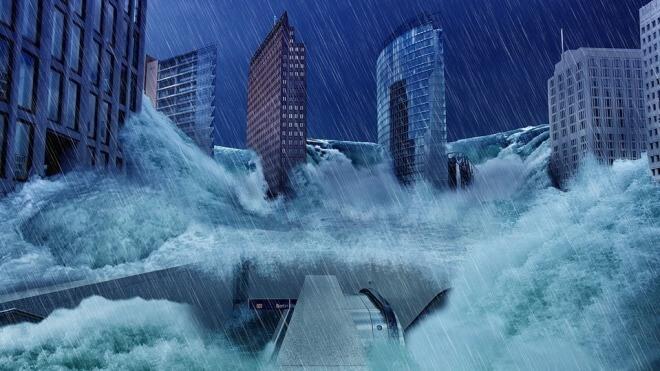 Flut, Überschwemmung, Sturm, Apokalypse