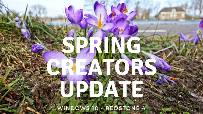 Windows 10, Redstone 4, Spring Creators Update, Windows 10 Spring Creators Update, RS4, Version 1803