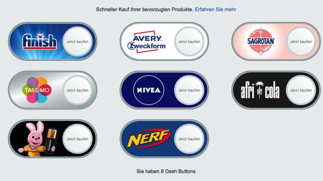 Amazon, dash button, Amazon Dash Button, Virtueller Dash Button