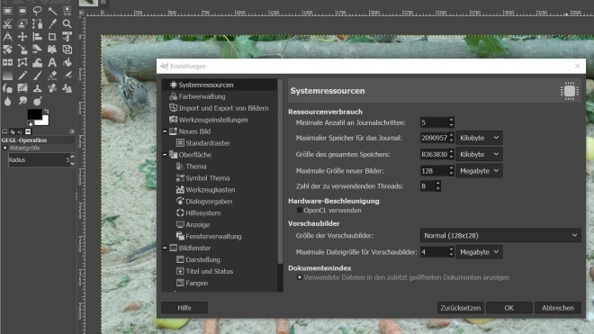 Tool, Bildbearbeitung, Gimp