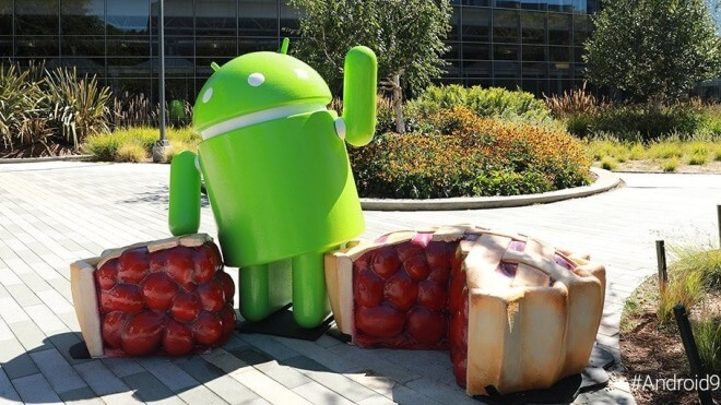 Betriebssystem, Google, Android, Android 9.0, Android P, Android Pie, Mountain View, Statue, Figur