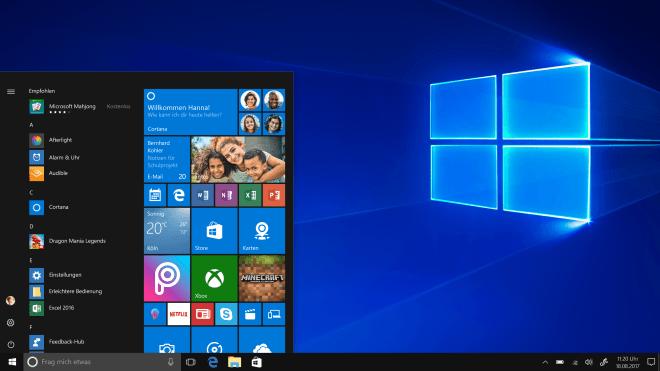 Windows 10, Apps, Startmenü