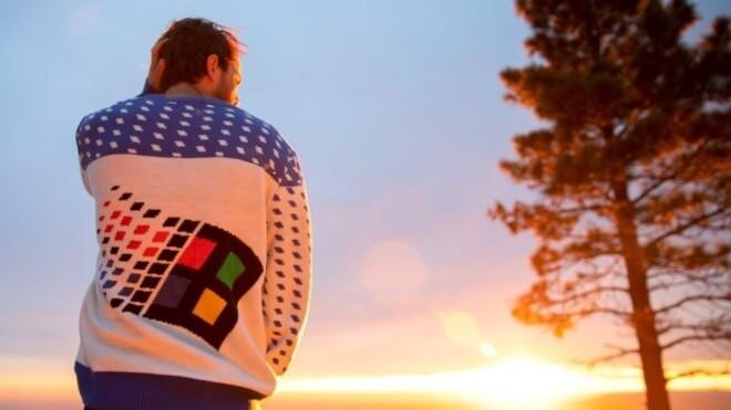 Windows 95, Windows Logo, Windows Ugly Sweater, Windows Pullover