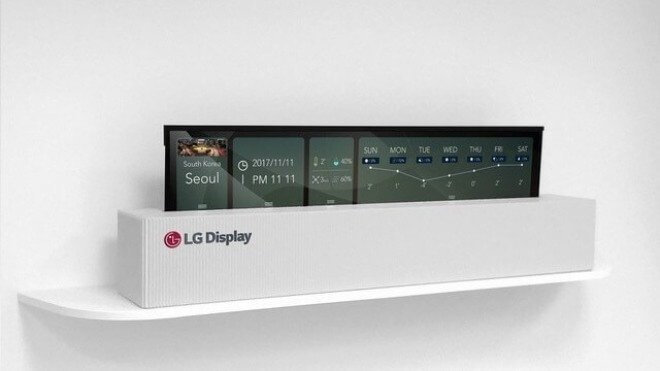 LG, Tv, Fernseher, OLED, rollbar