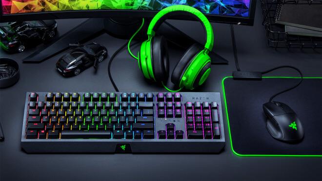 Gaming, Tastatur, Headset, Maus, Razer, Peripherie, Razer Blackwidow, Razer Kraken, Razer Basilsik Essential