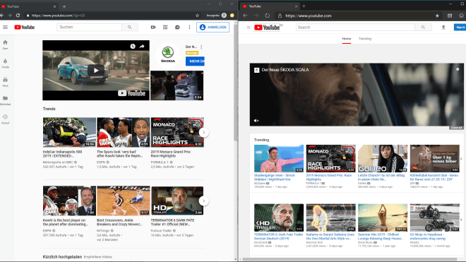 Browser, Youtube, Edge, Chromium