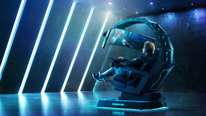 Gaming, Spiele, Display, Ifa, Acer, Monitor, IFA 2018, Predator, Acer Predator, Stuhl, Sessel, Acer Predator Thronos