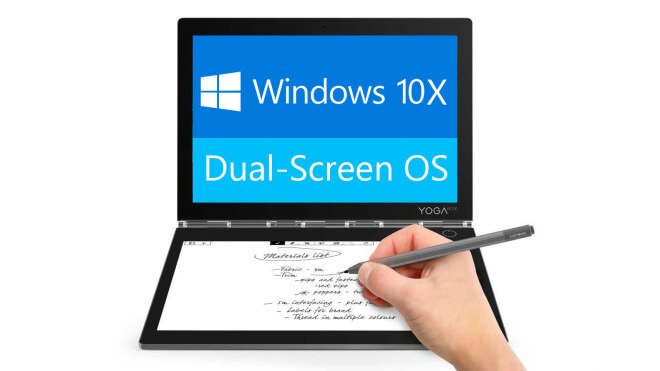 Microsoft, Betriebssystem, Faltbares Display, Os, Windows 10X, Dual Screen