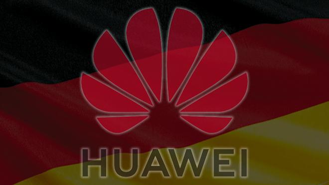 Smartphone, Huawei, Logo, Deutschland, Flagge, Fahne, Deutsch