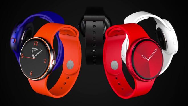 Design, smartwatch, Uhr, Apple Watch, Konzept, Wearable, WatchOS, Rendervideo, Series 6, Rund, Renderings