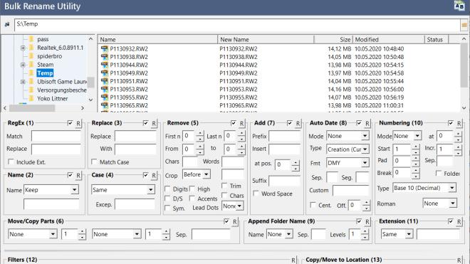 Freeware, Bulk Rename Utility, File Renamer