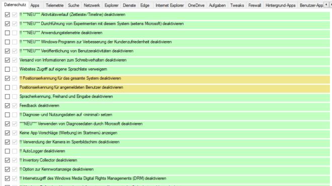 Windows 10, Datenschutz, Privatsphäre, W10Privacy