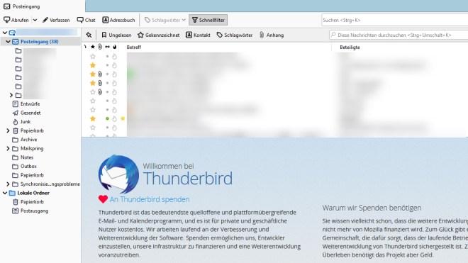 Mozilla, Thunderbird, E-Mail-Client
