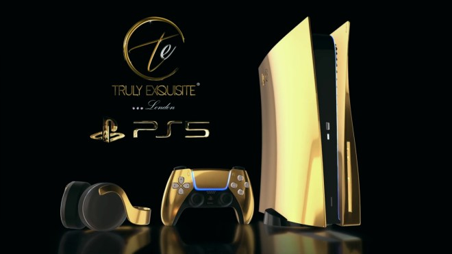 Gaming, Sony, Design, Konsolen, PlayStation 5, Spielekonsolen, ps5, Konzept, Sony PlayStation 5, Gold, Luxus, 24K, 24 Karat