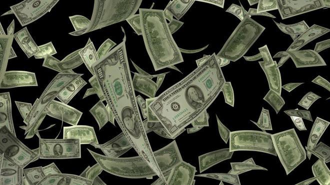 Geld, Dollar, Geldschein, Banknoten