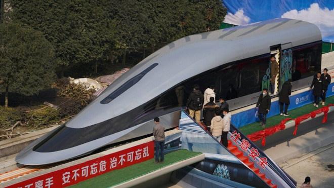 China, Zug, Maglev, Magnetschwebebahn, Hochgeschwindigkeitszug