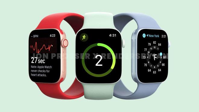 smartwatch, Uhr, Wearables, Apple Watch, Renderbilder, Rendering, Apple Watch Series 7