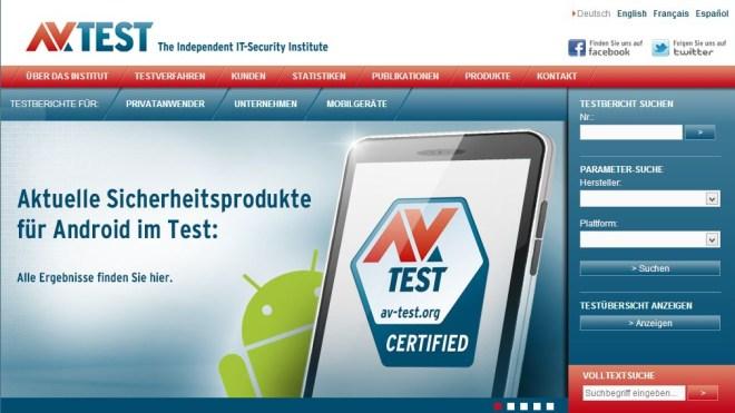 Antivirus, Test, AV-Test