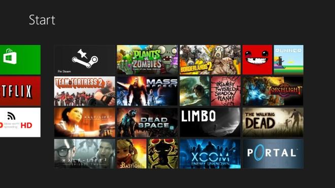 Windows 8, Steam, Valve, Pin Steam