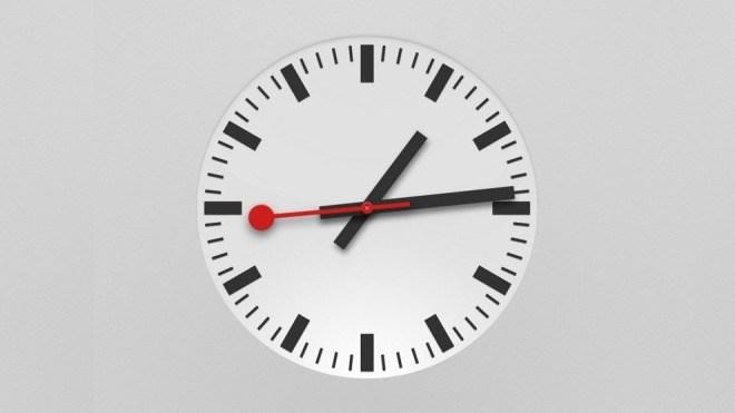 Apple, Uhr, sbb, Schweizer Bahnhofsuhr