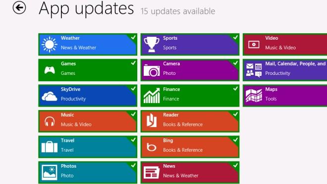 Windows 8, App, Update, Apps