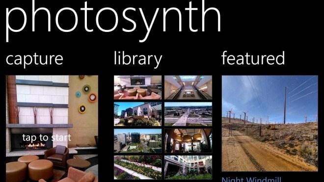 Microsoft, Windows Phone, Photosynth