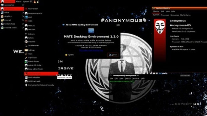 Betriebssystem, Anonymisierung, Anonymous OS