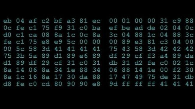 Hacker, Kryptographie, Hex-Code