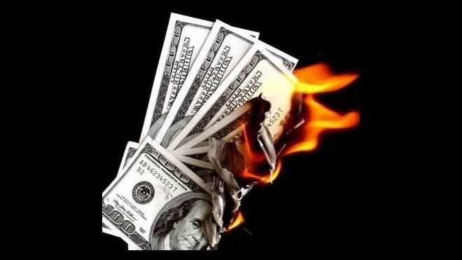 Geld, Brennen, Feuer