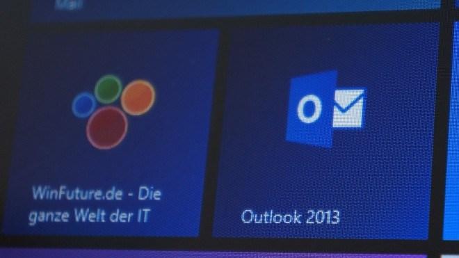 Microsoft, Winfuture, Outlook, Live Tiles, Outlook 2013, Windows 8 tile