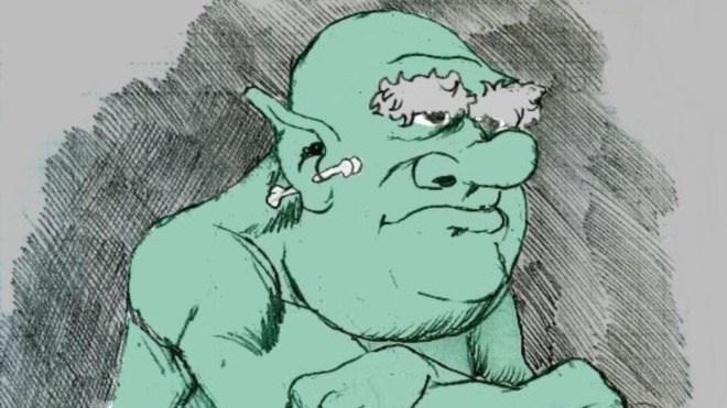 Troll, gr�n, Oger