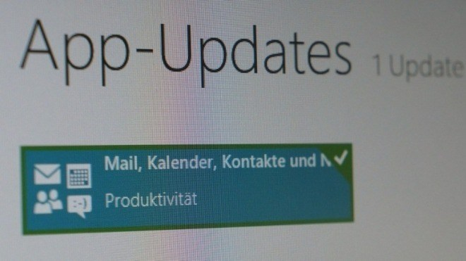 Microsoft, Windows 8, App, Surface, Windows RT, Mail, Kalender, Kontakte, App-Update