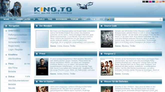 Streamingportal, kino.to, Videostreaming