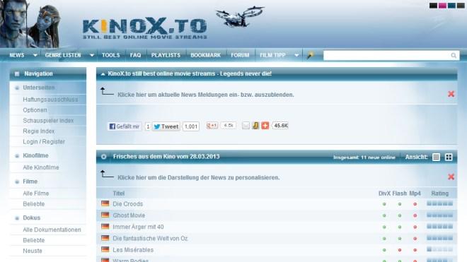 Streamingportal, Videostreaming, Kinox.to