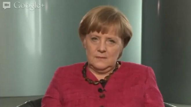 Google, Google+, Angela Merkel, Bundeskanzlerin, Hangout