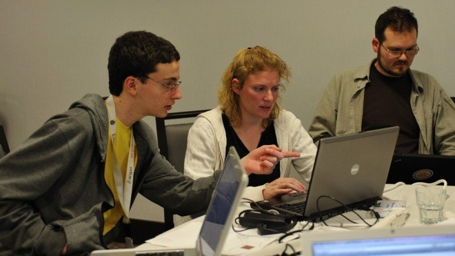 Laptop, Entwickler, Programmierer, Drupalcon