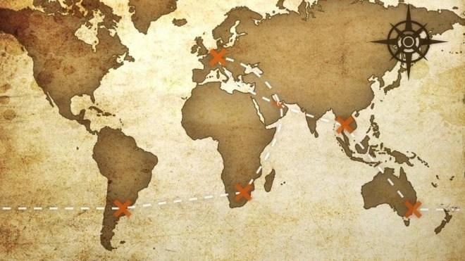 Karte, Map, Schatzkarte, Landkarte